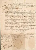 1647 Permission & Réception aux Ordres