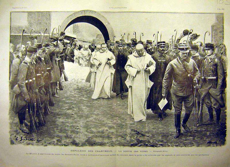 Exemple : expulsion de frères chartreux de leur monastère